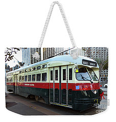 Weekender Tote Bag featuring the photograph Trolley Number 1077 by Steven Spak