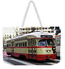 Weekender Tote Bag featuring the photograph Trolley Number 1079 by Steven Spak