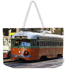 Weekender Tote Bag featuring the photograph Trolley Number 1080 by Steven Spak
