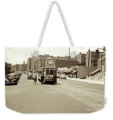 Weekender Tote Bag featuring the photograph Trolley Time by Cole Thompson