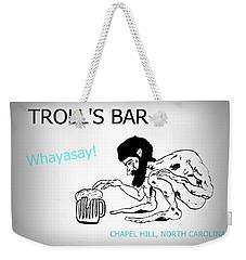 Troll's Bar Chapel Hill Nc Weekender Tote Bag