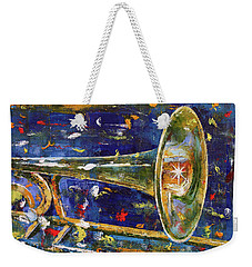 Trombone Weekender Tote Bag by Michael Creese