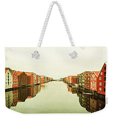 Trondheim On A Rainy Day Weekender Tote Bag