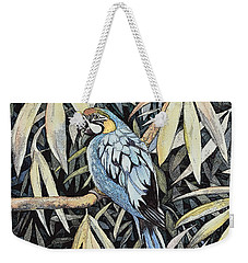 Weekender Tote Bag featuring the painting Tropical Adventure by Martha Ayotte