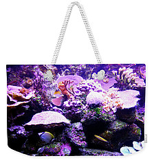 Weekender Tote Bag featuring the photograph Tropical Aquarium by Francesca Mackenney