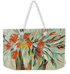 Weekender Tote Bag featuring the painting Tropical Arrangement by Joanne Smoley