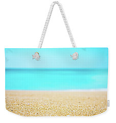 Tropical Art - Turquoise Sand Beach Lagoon Photography Weekender Tote Bag