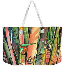 Tropical Bamboo Weekender Tote Bag by Marionette Taboniar