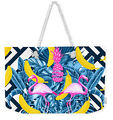 Tropical Banana Pink   Weekender Tote Bag