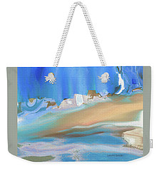 Tropical Beach Abstract Weekender Tote Bag