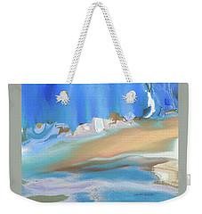 Tropical Beach Abstract Weekender Tote Bag