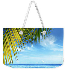 Tropical Beach Weekender Tote Bag by Carlos Caetano