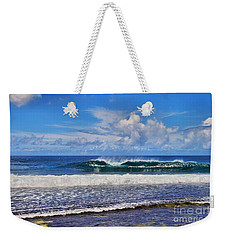 Tropical Beach Waves Weekender Tote Bag