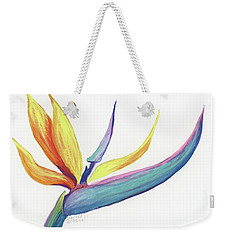 Weekender Tote Bag featuring the painting Tropical Bird Of Paradise by Darice Machel McGuire