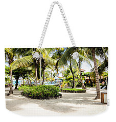 Weekender Tote Bag featuring the photograph Tropical Courtyard by Lawrence Burry