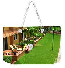 Tropical Courtyard Weekender Tote Bag