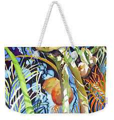 Weekender Tote Bag featuring the painting Tropical Design 2 by Rae Andrews