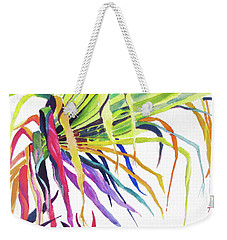 Weekender Tote Bag featuring the painting Tropical Fernery by Rae Andrews