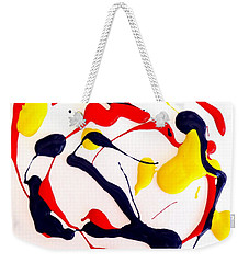 Weekender Tote Bag featuring the painting Tropical Fish by Fred Wilson