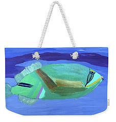 Weekender Tote Bag featuring the painting Tropical Fish by Karen Nicholson