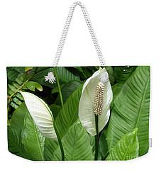 Tropical Flower Weekender Tote Bag by Margaret Brooks