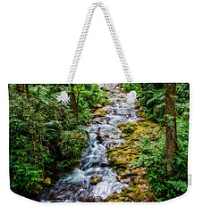 Weekender Tote Bag featuring the photograph Tropical Forest Stream by Christopher Holmes