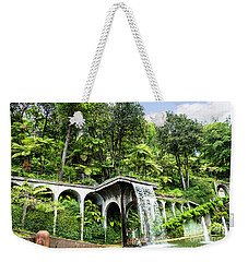 Tropical Gardens Waterfall Weekender Tote Bag