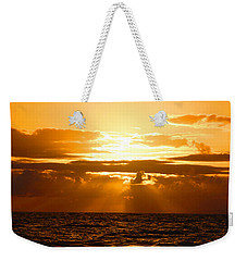 Weekender Tote Bag featuring the photograph Tropical Hawaiian Sunset by Michael Rucker