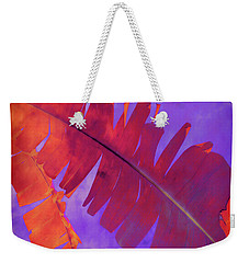 Weekender Tote Bag featuring the photograph Tropical Heat by Ann Powell