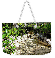 Weekender Tote Bag featuring the photograph Tropical Hiding Spot by Francesca Mackenney