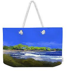 Tropical Island Coast Weekender Tote Bag