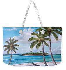 Tropical Island Weekender Tote Bag