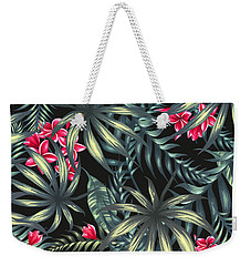 Tropical Leaf Pattern  Weekender Tote Bag by Stanley Wong