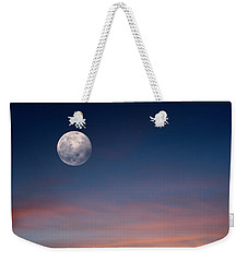 Weekender Tote Bag featuring the photograph Tropical Moon by Laura Fasulo