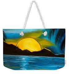 Tropical Moonshine Weekender Tote Bag by Jenny Lee