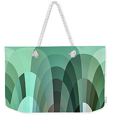 Tropical Mounds Abstract Weekender Tote Bag