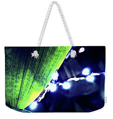 Weekender Tote Bag featuring the digital art Tropical Night by Mindy Newman