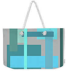 Tropical Oceans Square Abstract Weekender Tote Bag