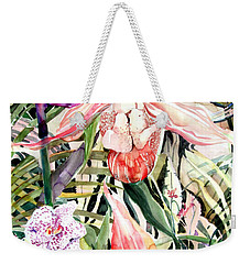 Tropical Orchids Weekender Tote Bag by Mindy Newman