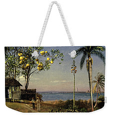 Tropical Scene Weekender Tote Bag by Albert Bierstadt
