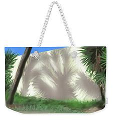 Tropical Shadows Weekender Tote Bag