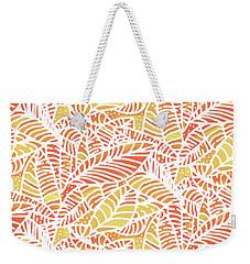 Tropical Sunset Leaves Weekender Tote Bag