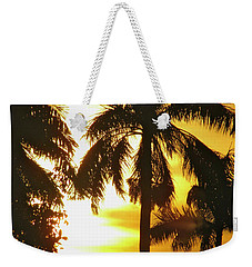 Tropical Sunset Palm Weekender Tote Bag
