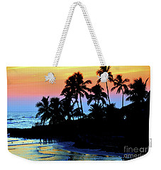 Tropical  Sunset Silouhette Weekender Tote Bag