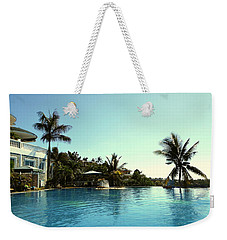 Tropical Swimming Pool Weekender Tote Bag