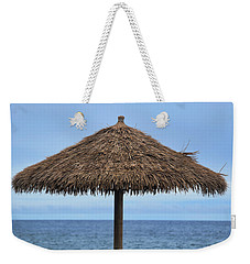 Weekender Tote Bag featuring the photograph Tropical Umbrella by Pamela Walton