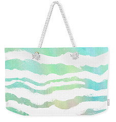 Weekender Tote Bag featuring the painting Tropical Waves  by Ann Powell