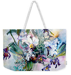 Tropical White Orchids Weekender Tote Bag