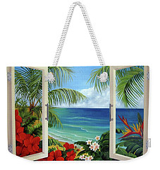 Tropical Window Weekender Tote Bag
