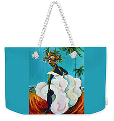 Weekender Tote Bag featuring the painting Tropicana by Anna  Duyunova